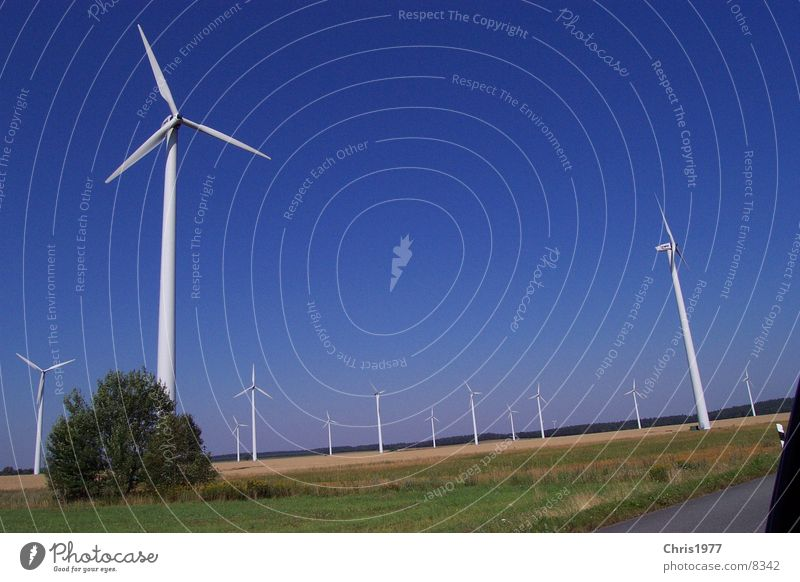 wind power Wind energy plant Electricity Highway Field Sky