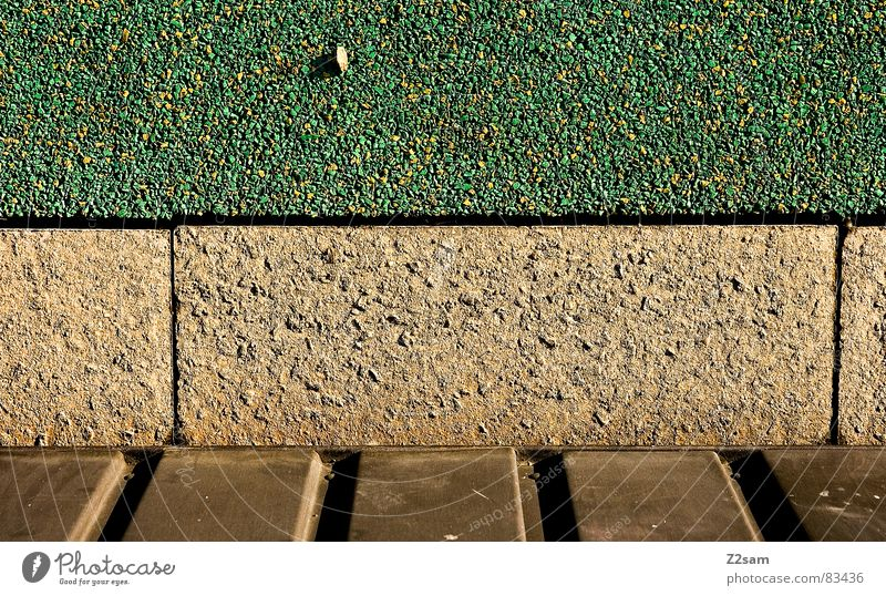 Green Yellow Colour Stone Line Architecture Gold Floor covering Lie Wooden board Canoe Tar Pebble Disk Rough Bronze