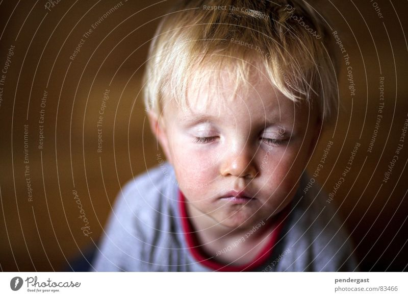 Child Calm Boy (child) Playing Sleep Near Toddler Dreamily Daydream