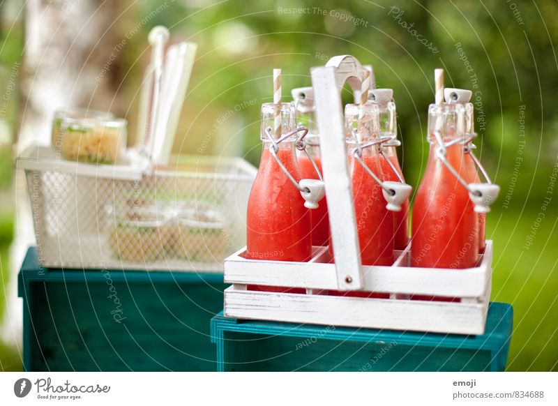 fresh & fruity Nutrition Picnic Beverage Cold drink Lemonade Bottle Glass Straw Delicious Sweet Colour photo Exterior shot Deserted Day Shallow depth of field