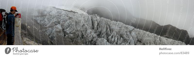 Human being Cold Snow Mountain Ice Nuremberg Fog Tall Level Vantage point Climbing China Footbridge Hard Glacier Vail