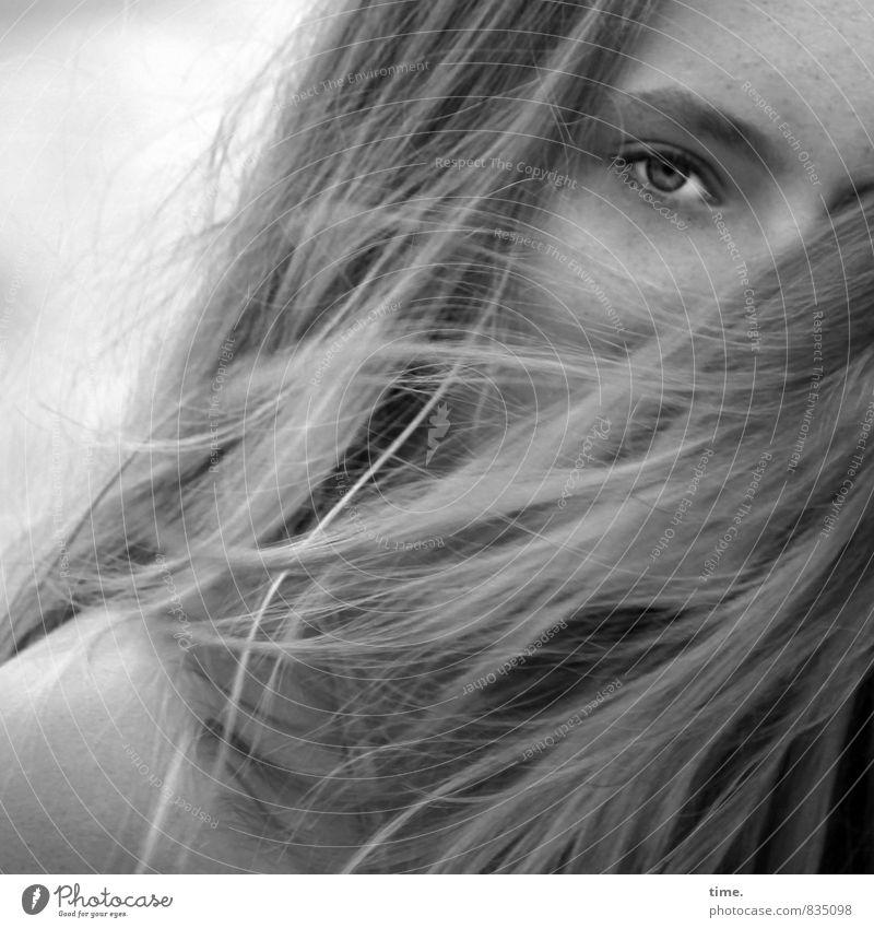 . Feminine Skin Head Eyes 1 Human being Blonde Long-haired Observe Elegant Curiosity Beautiful Warmth Wild Soft Emotions Romance Watchfulness Interest Movement