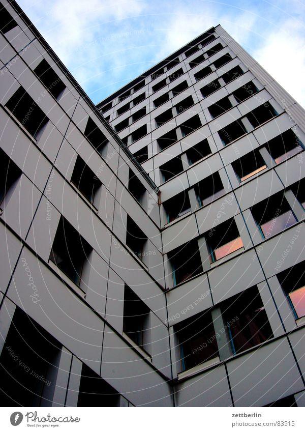 Berlin Window Glass Facade Row Prefab construction Administration City hall Window board New building Windowsill Tower block Mayor