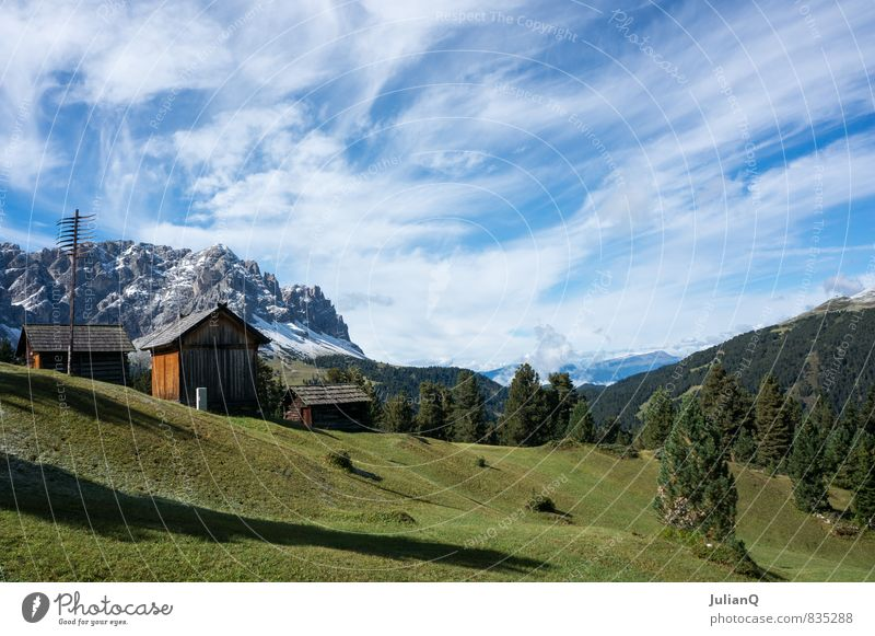 mountain view Nature Landscape Sky Clouds Hill Alps Mountain Snowcapped peak Contentment Climate Heaven Clouds in the sky Alpine hut Mountain range Colour photo