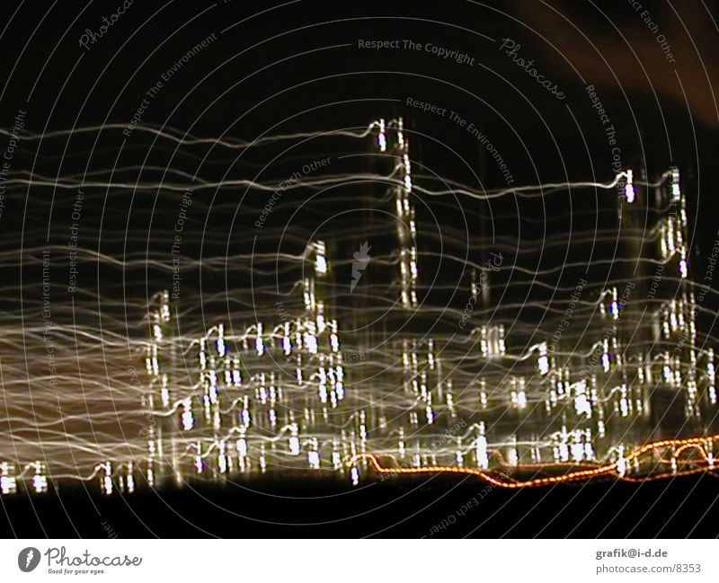 leuna 02 Leuna Night Light Pattern Long exposure House (Residential Structure) Visual spectacle Industrial Photography