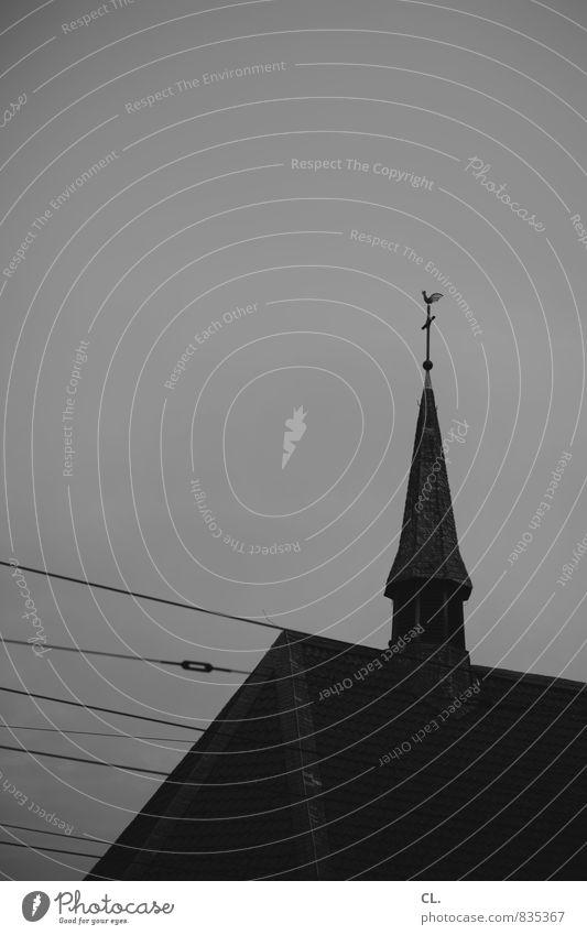 Sky Dark Religion and faith Gloomy Church Belief Society Church spire