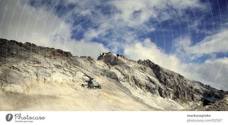 Zugspitze gap High plain Garmisch-Partenkirchen Massive Science & Research Alpine Erosion Formation Glacier Granite Germany decline Mountain Sky Stone Rock
