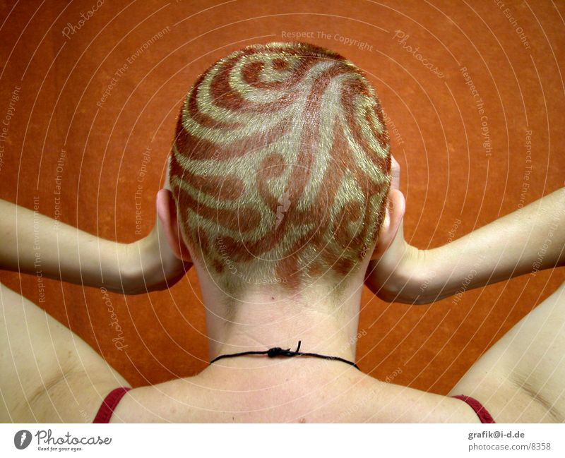 Woman Red Colour Hair and hairstyles Head Blonde Back Painting (action, work) Fashioned Dyeing Back of the head