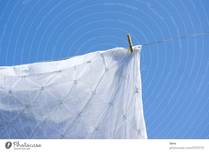 Sky Blue White Sun Bedclothes Hang Dry Clothesline Clothes peg