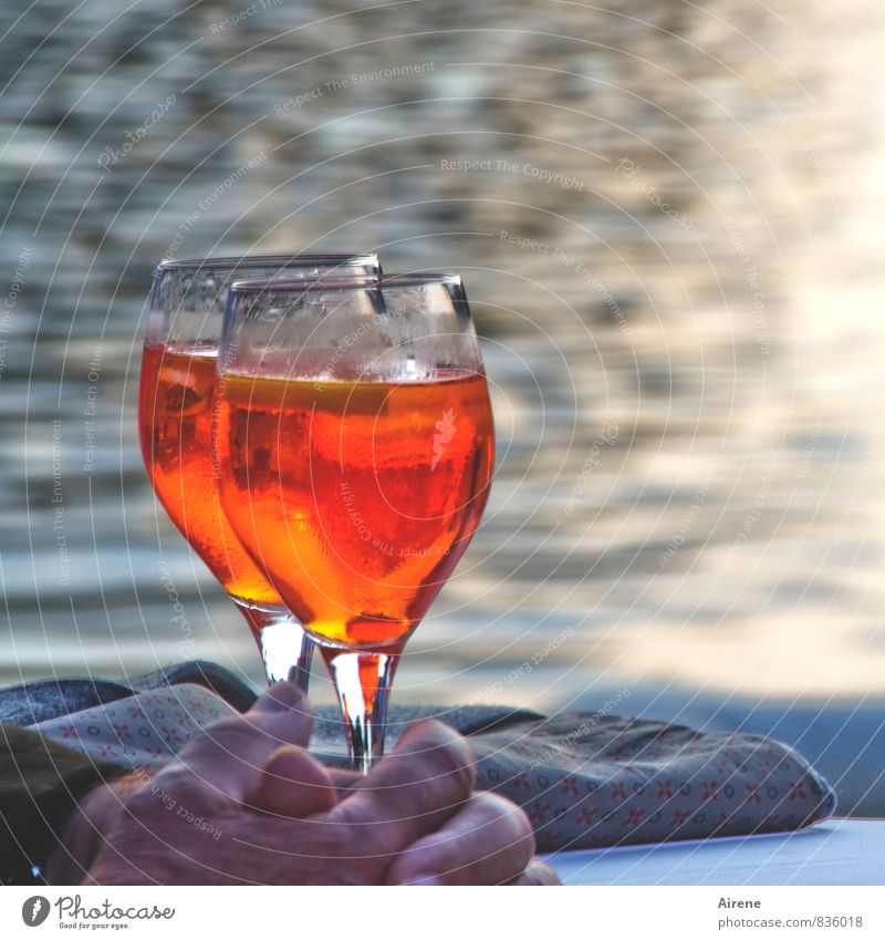 Man Relaxation Hand Red Adults Happy Lifestyle Feasts & Celebrations Orange Masculine Leisure and hobbies To enjoy Beverage Joie de vivre (Vitality) Fingers Drinking