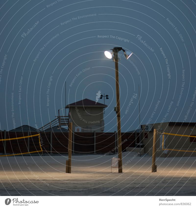 flood of light Vacation & Travel Tourism Beach Sports Ball sports Sporting Complex Volleyball (sport) Volleyball court Volleyball net Tel Aviv Israel Town Brown