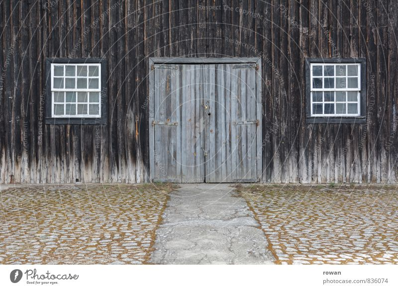 barn Village Manmade structures Building Wall (barrier) Wall (building) Facade Window Door Old Barn Barn door Entrance Main gate Wooden facade Farm Country life