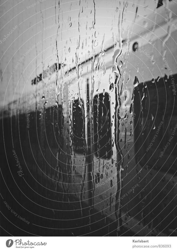 Vacation & Travel Window Sadness Movement Lanes & trails Rain Transport Tourism Drops of water Trip Beginning Railroad Services Window pane Passenger traffic