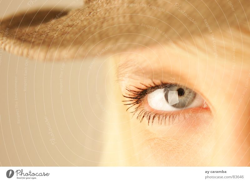 instant Eyes Looking Blue Blonde Hat Beautiful Esthetic Woman Power Force blue eyes Snapshot