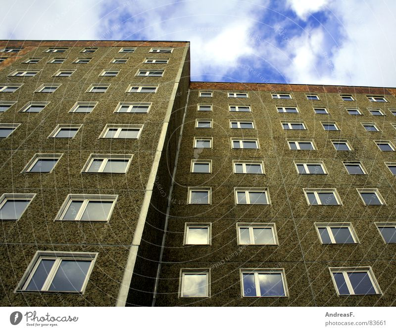 City House (Residential Structure) Window Wall (building) Building Germany Flat (apartment) High-rise Construction site GDR Quarter Nostalgia