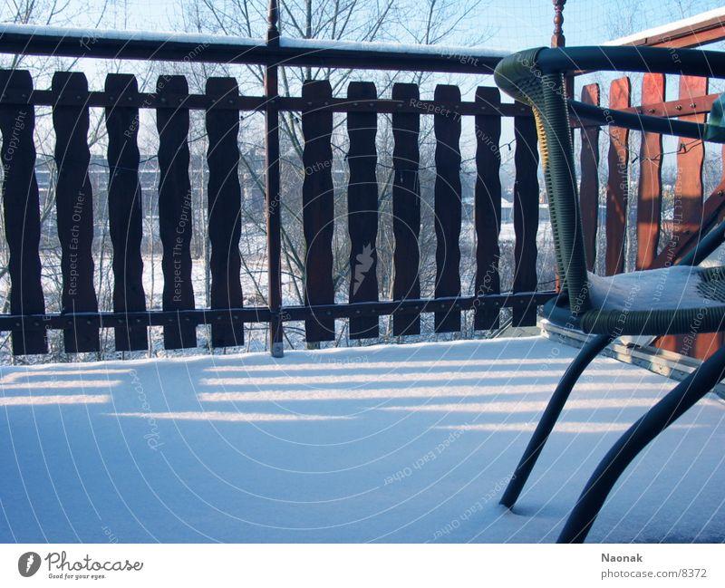 balcony chair Balcony Fence Living or residing wallow Snow
