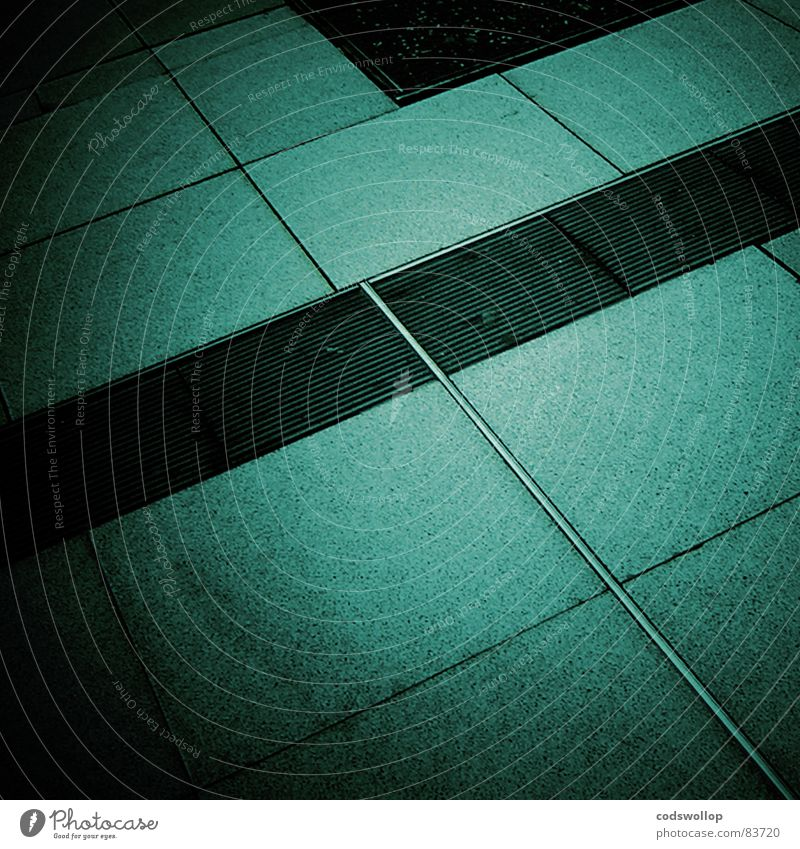 Green Black Gray Line Feasts & Celebrations Success Floor covering Tile Square Steel Turquoise Train station Geometry Gully Rectangle Paving tiles