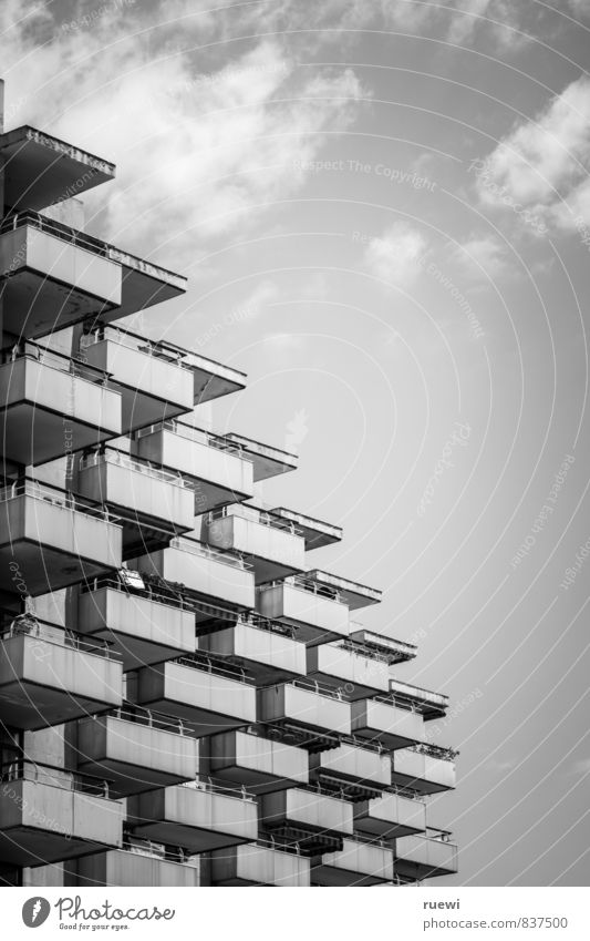 Sky Vacation & Travel City Clouds House (Residential Structure) Architecture Building Metal Facade Stairs Living or residing Gloomy High-rise Tourism Tall