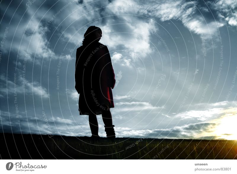 Woman Human being Sky Sun Blue Clouds Life Feminine Air Wait Adults Horizon Hope Infinity Longing Beautiful weather