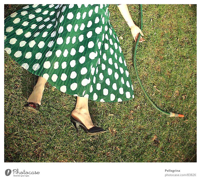 transformation 4 Woman Grass Hose Work and employment Footwear Motionless Legs Death Garden