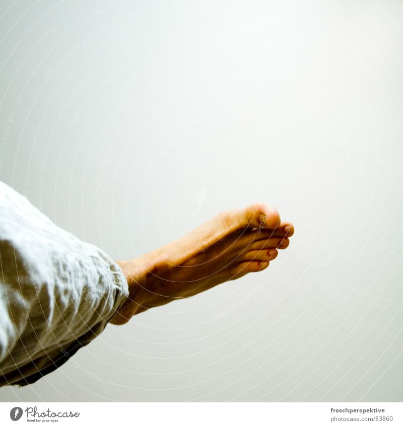 Man Feet Going Flying Stand Hover Rich Barefoot Toes Aloof Down-to-earth Indefinite