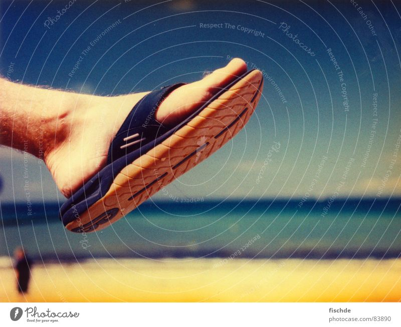 Sun Ocean Summer Beach Yellow Relaxation Feet Horizon Break Sunbathing Barefoot Ankle Bathing place Beach shoes