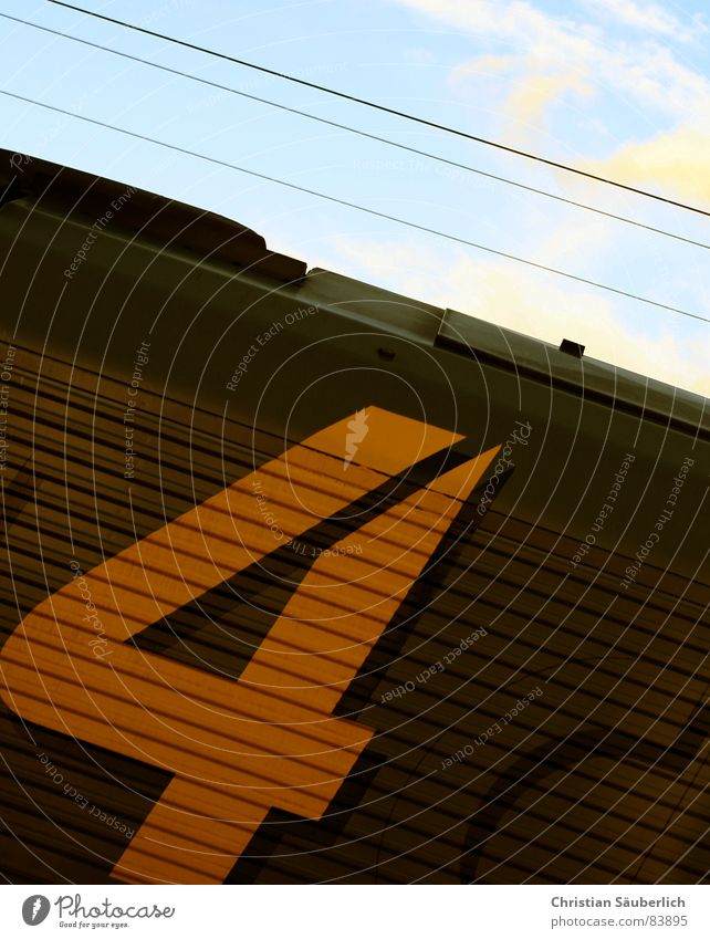 Sky Yellow Brown Railroad Industry Digits and numbers 4 Stripe Fantastic Express train Tractor Engines Train travel