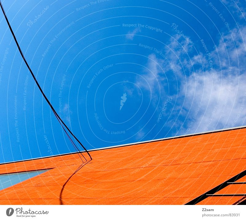 Sky Colour Window Orange Rope Perspective Modern Cable String Connection Illustration Ladder Geometry Graphic