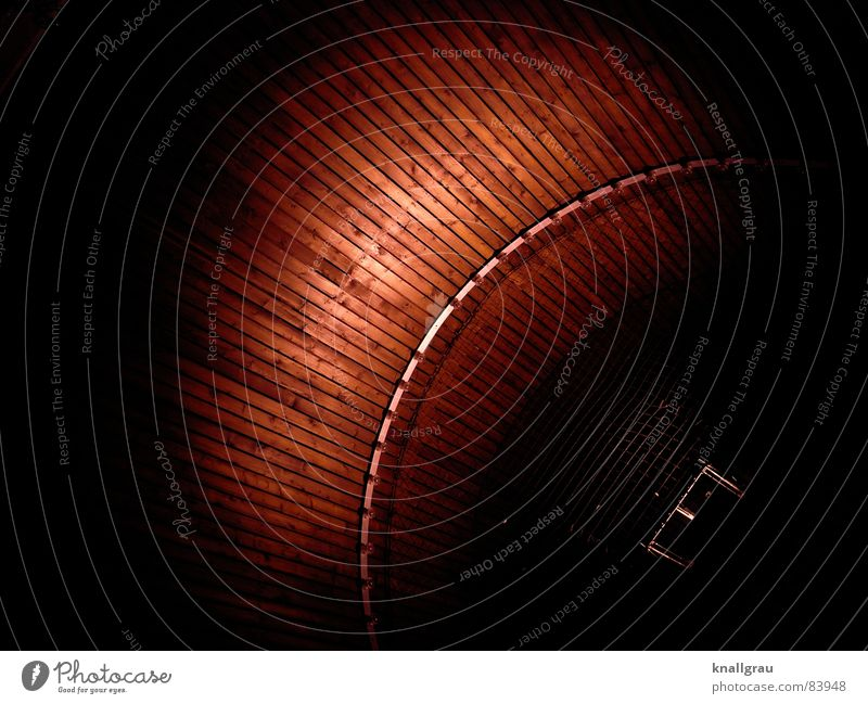 Red Black Lamp Dark Wood Lighting Circle Round Roof Net Protection Middle Underground Radiation Entrance Wooden board