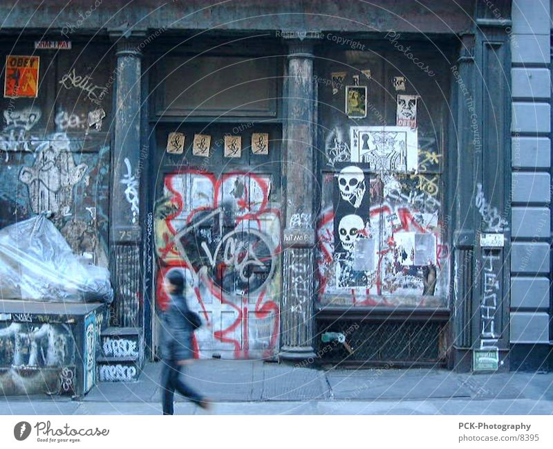 City Graffiti Punk New York City Photographic technology Soho