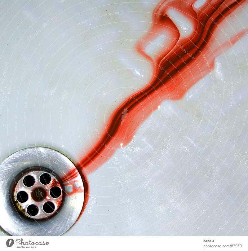 psycho Colour photo Interior shot Detail Red Drainage Blood Blood smear Blood stain Massacre