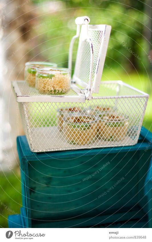 picnic basket Lettuce Salad Nutrition Picnic Vegetarian diet Crockery Bowl Delicious Natural Green Basket Picnic basket Colour photo Exterior shot Deserted Day