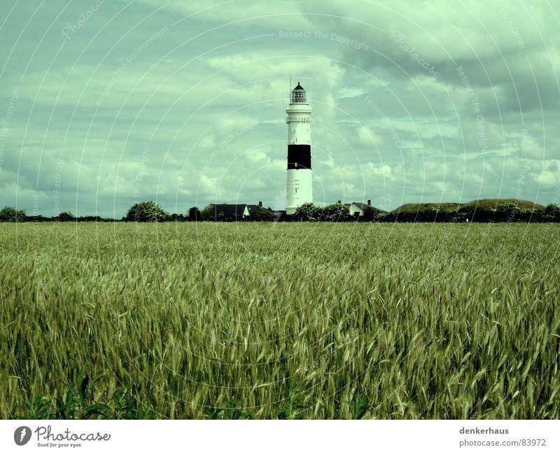 White Ocean Red Clouds Lamp Graffiti Bright Field Coast Horizon Tower Grain Monument Landmark Lighthouse North Sea