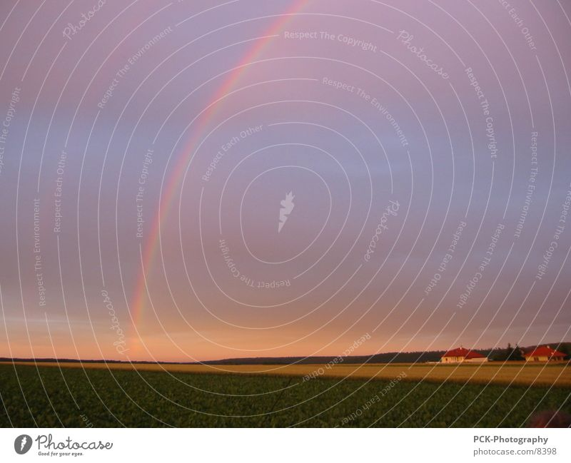 rainbow Rainbow Plain Dusk Ambient Moody