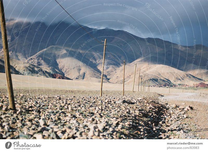 stone desert Stone desert Morocco Steppe Hiking Africa Minerals Berber hinterland Desert Atlas Mountain