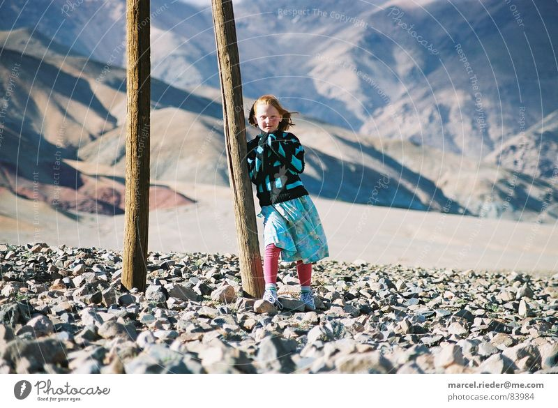 Child Far-off places Mountain Stone Africa Steppe Morocco Stone desert