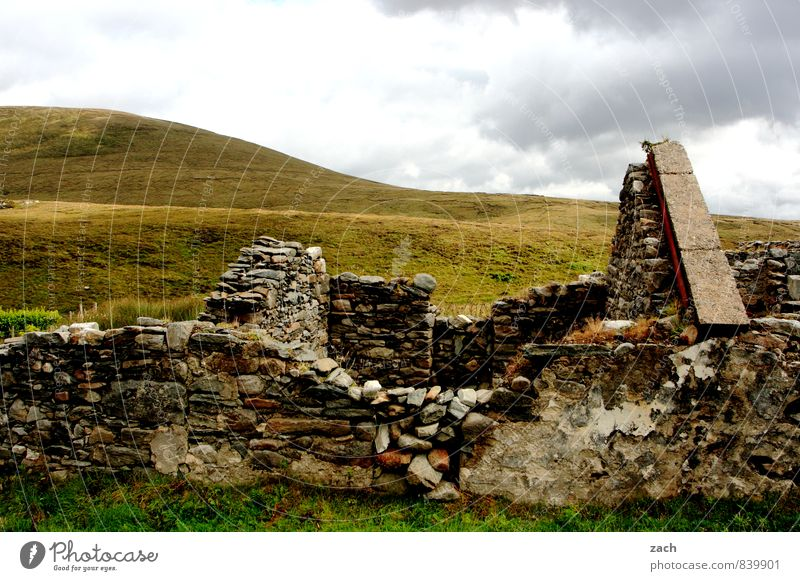 Old House (Residential Structure) Living or residing Broken Transience Roof Decline Ruin Ireland Fieldstone house