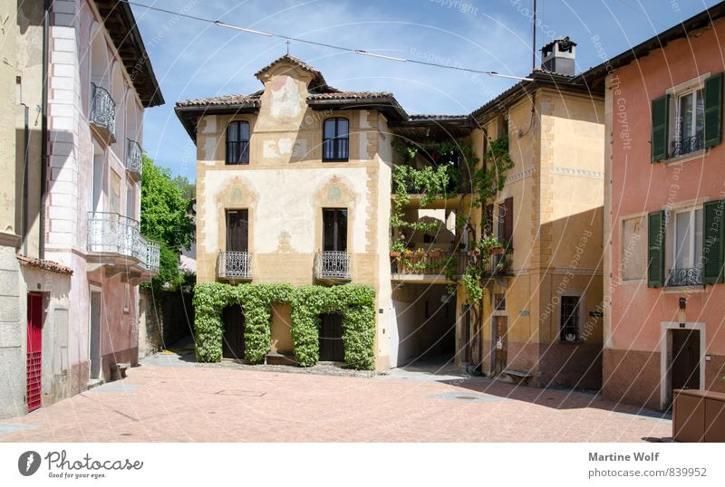 Carona Canton Tessin Switzerland Europe Village House (Residential Structure) Vacation & Travel Colour photo Exterior shot Deserted Day