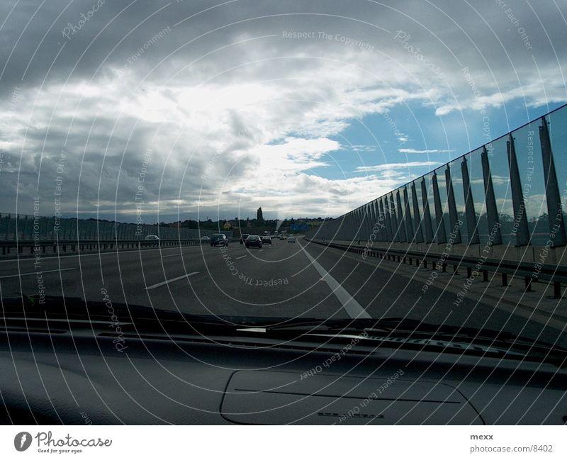 freeway Highway Clouds Car Rain Street Sky