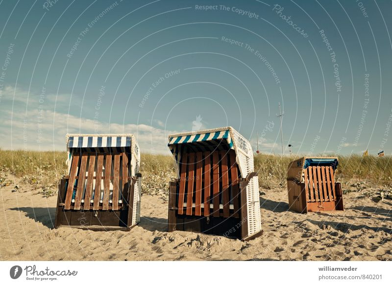 Beach chairs at the edge of the dunes Healthy Wellness Harmonious Well-being Contentment Relaxation Meditation Swimming & Bathing Vacation & Travel Tourism Trip