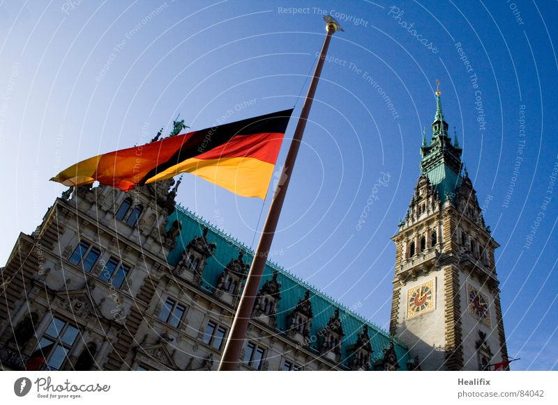 Sky Red Vacation & Travel Black Death Emotions Sadness Gold Tourism Hamburg Grief Flag German Flag Past Historic Distress