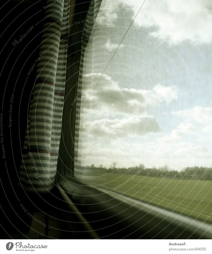Vacation & Travel Window Dream Think Landscape Dirty Glass Weather Railroad Sleep Speed Trip Driving Longing Boredom Bus