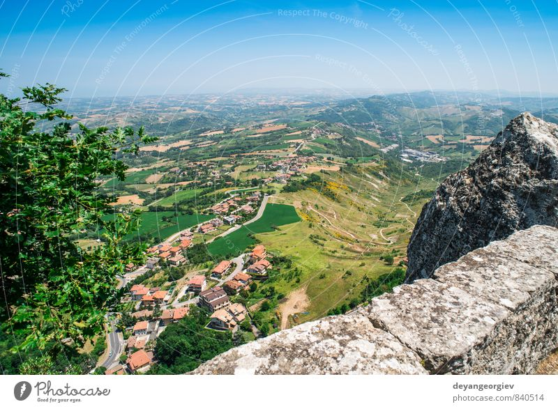 High view from San Marino Nature Vacation & Travel City Green Tree Landscape House (Residential Structure) Mountain Architecture Building Modern Europe