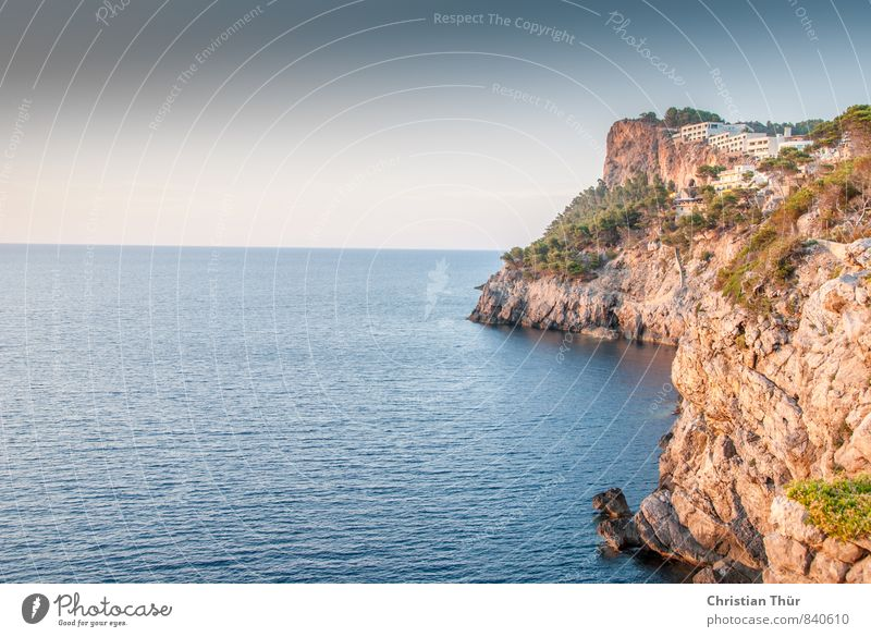 Coast Port de Soller Harmonious Contentment Relaxation Calm Meditation Swimming & Bathing Vacation & Travel Tourism Trip Far-off places Freedom Sightseeing
