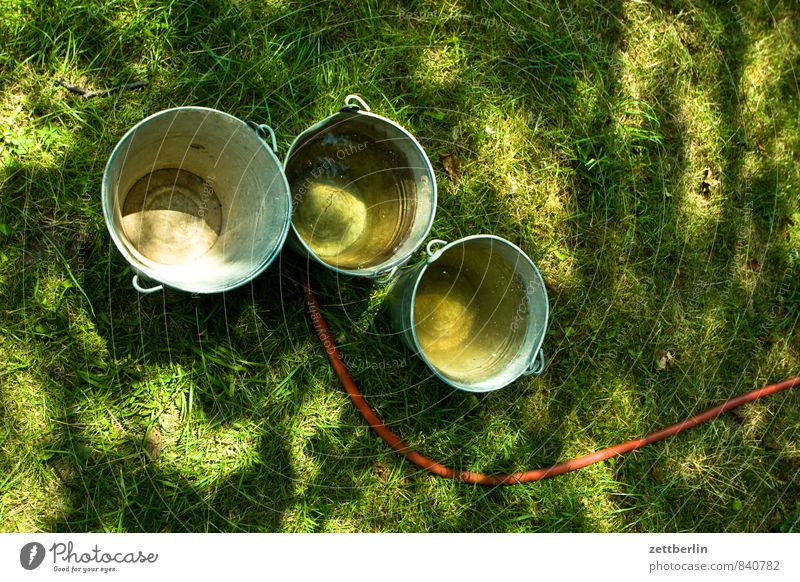 Green Water Summer Sun Meadow Grass Garden Metal Wet Metalware Lawn Rainwater Tin Hose Cast Supply