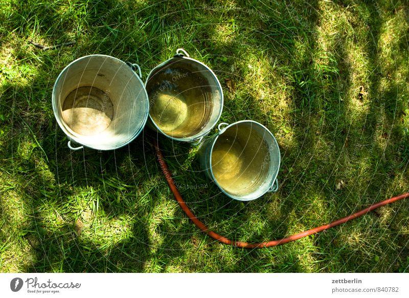 Three buckets Garden Grass Lawn Meadow Green Bucket Tin Metal Metalware Carry handle Wash tub zinc bucket zinc-plated Water Irrigation Cast Hose Water hose Wet