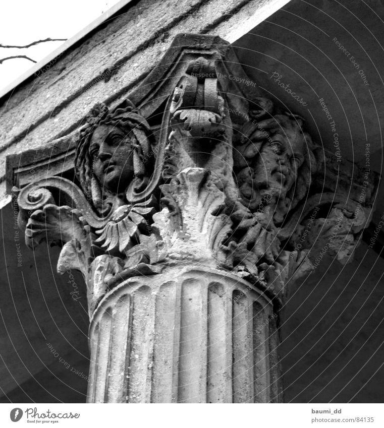 Winter Art Architecture Dresden Castle Monument Past Historic Landmark Column Tourist Attraction Palace Arcade