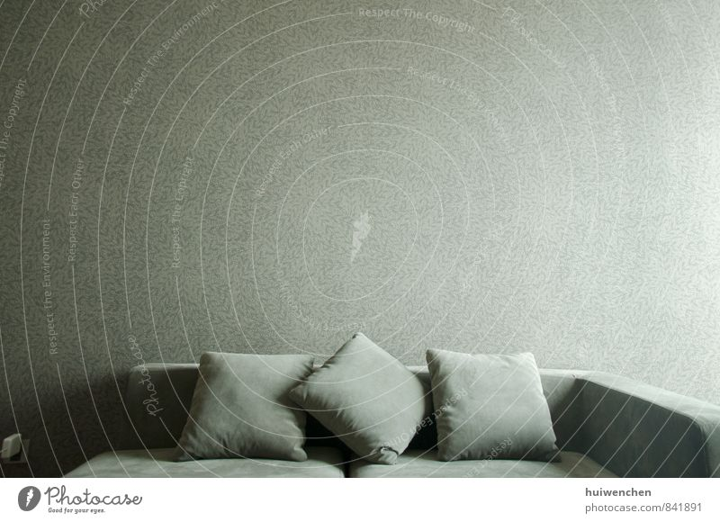 sofa Flat (apartment) Interior design Furniture Sofa Living room Cushion Calm Cozy Gray wallpapers Colour photo Interior shot Deserted Day
