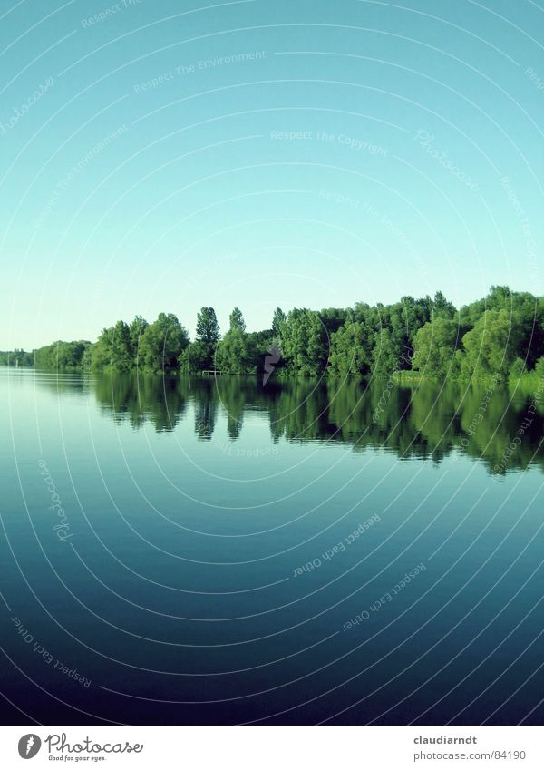 < green wedge > Lake Baseline Greeny-blue Wedge Mirror Symmetry Summer Under Calm Surface Connector Mirror image To be silent Center line Tree Forest Idyll