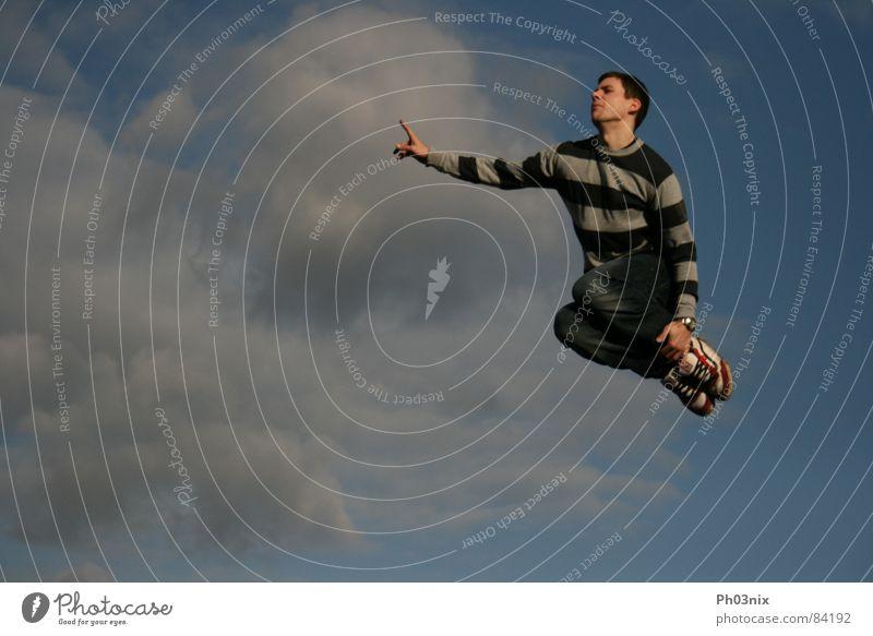 Sky Joy Clouds Jump Aviation Level Stripe Indicate